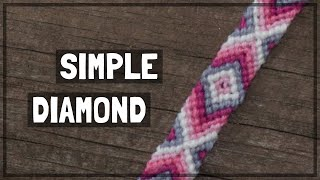 Simple Diamond Friendship Bracelet Tutorial