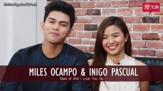 Miles Ocampo and Inigo Pascual on PEP TALK. On changing love teams