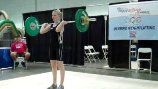 Baixar Maxine Boyd jerks 43 kg at the American Record Makers Youth Technical Competition