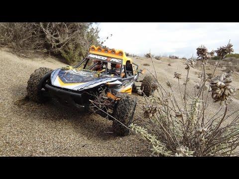 Ninco sioux en las dunas. Saltos en la arena con un dessert truck a radiocontrol