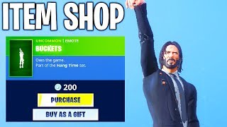 NEW BUCKETS EMOTE! Fortnite ITEM SHOP Today (NEW)