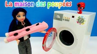 Tikki apprend à Marinette LadyBug à faire une machine. Vidéo en français pour enfants.