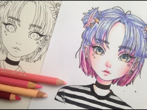 how to colour with coloured pencils // colouring for beginners ...