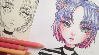 how to colour with coloured pencils // colouring for beginners
