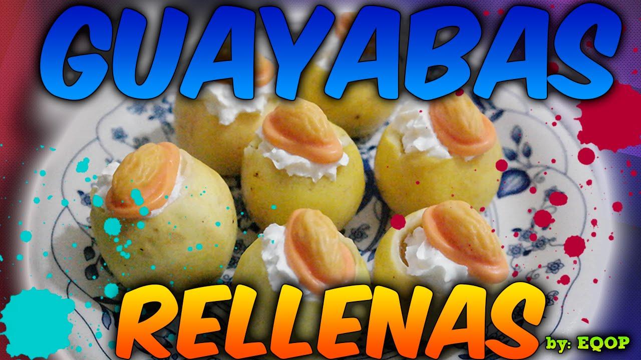 Guayabas rellenas