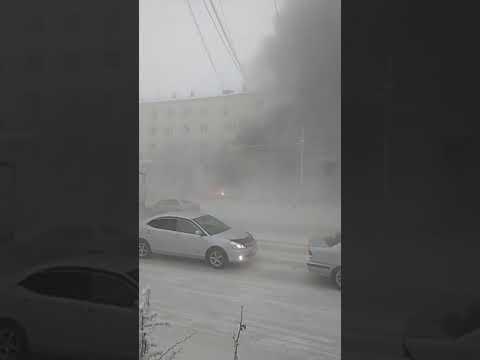 В Якутске взорвалась машина