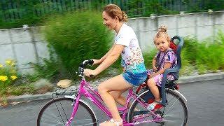 VLOG Катаемся на велосипедах всей семьей, Рома и Диана в Италии
