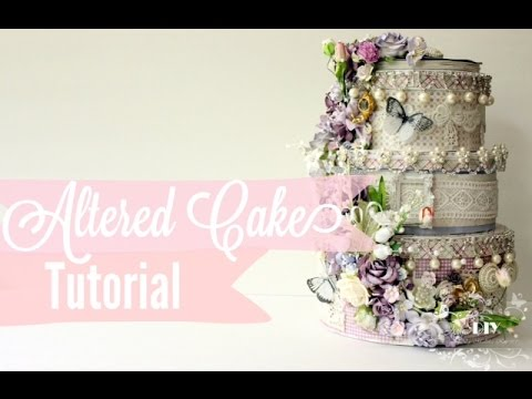 Tutorial | Easy How to do Altered Paper Wedding Cake Stack | Faux ...