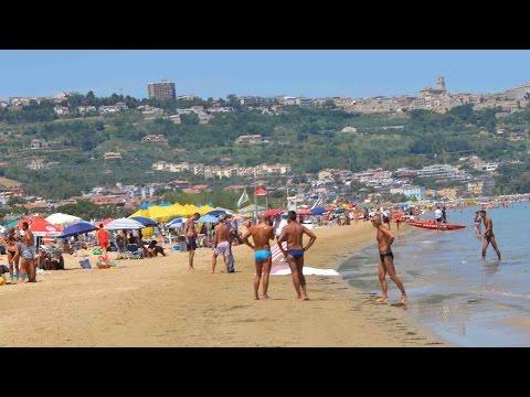 Beach in Vasto, Adriatic coast, Italy