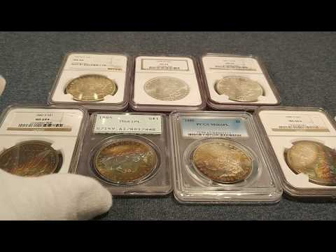 More PCGS & NGC Graded Morgan Silver Dollars - Rainbow Toned - Carson City - PL Rattler