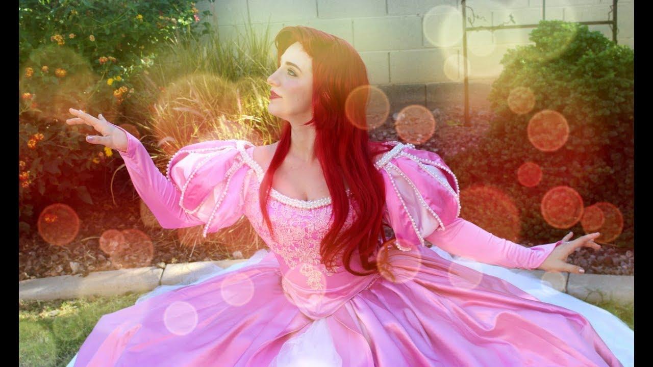 Cosplay Vignette Amberskies As Ariel The Little Mermaid Angel Secret Pink Dress Youtube