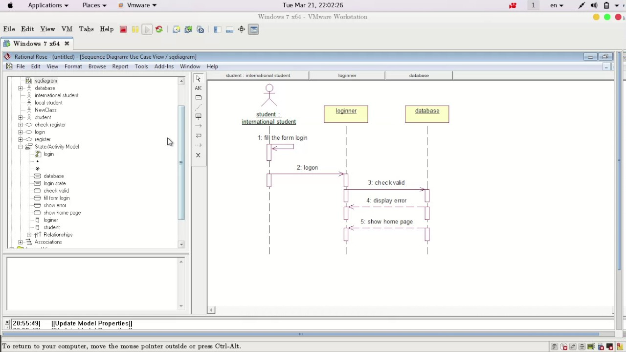 3 create sequence diagram in rational rose [ 1280 x 720 Pixel ]