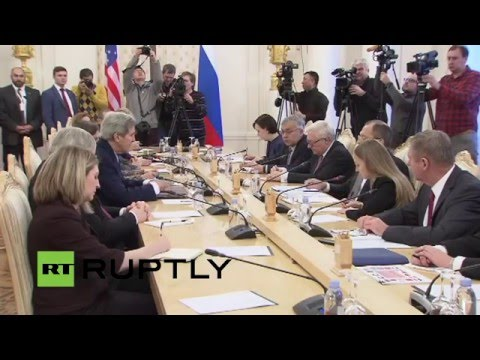 LIVE Kerry and Lavrov meet in Moscow: Meeting protocol