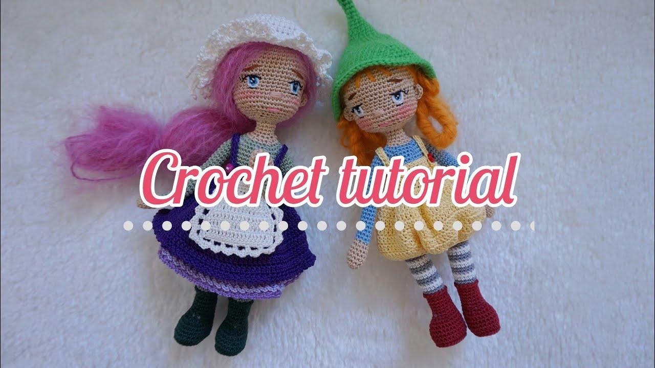 Crochet tiny doll Dollhouse Miniaturs Miniature crochet doll Amigurumi doll Home decor Handmade doll Art doll Interior doll Princess doll