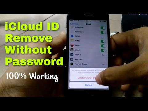 How to remove apple id account without password