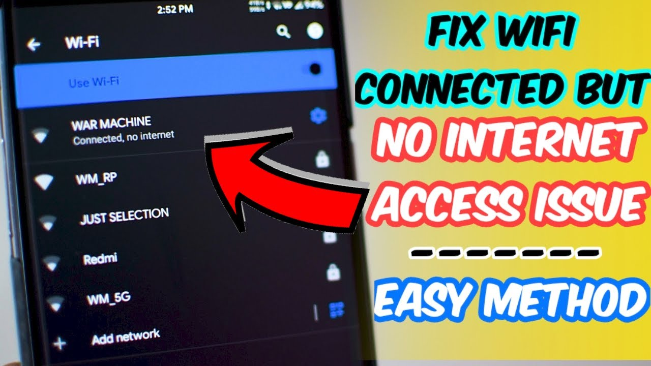 Fix Wifi Connected Internet Android - Year of Clean Water