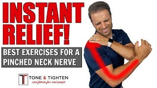 INSTANT RELIEF - How to Treat A Pinched Neck Nerve - Physical Therapy Exercises