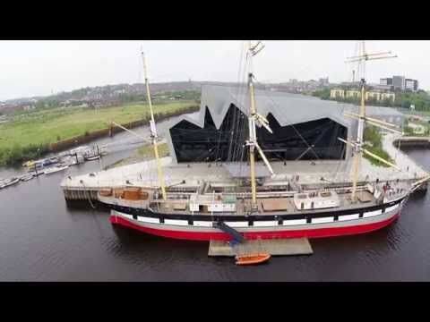 Glenlee Tall Ship at Glasgow Riverside Museum - DJI Phantom 2