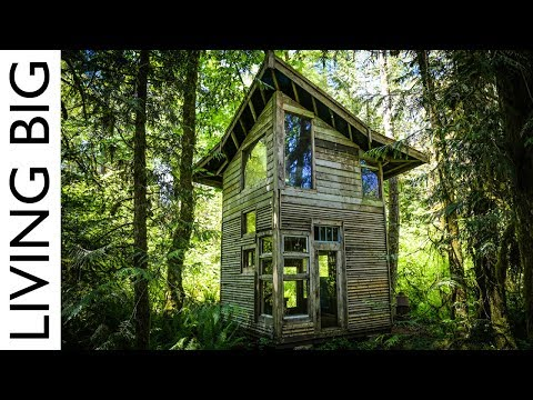 Forest Cabin Built From Salvaged Materials Cost Only $800!