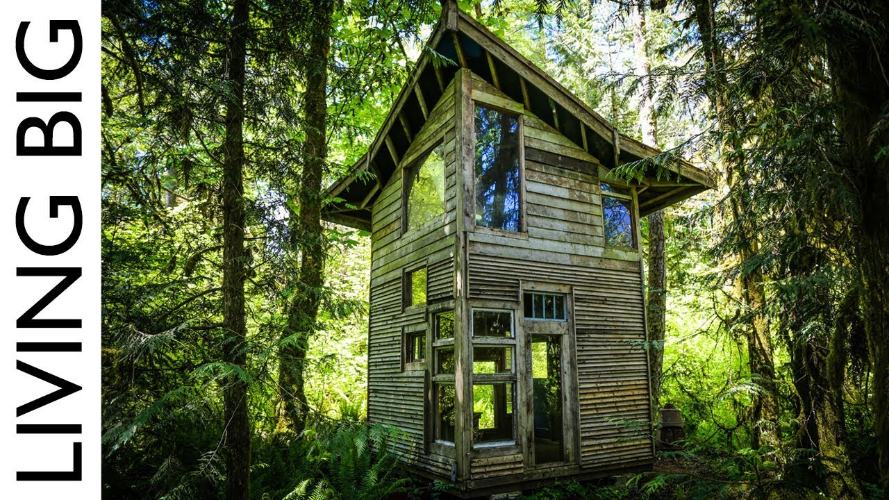 Forest cabin built from salvaged materials cost only 800 for Building a cottage cost