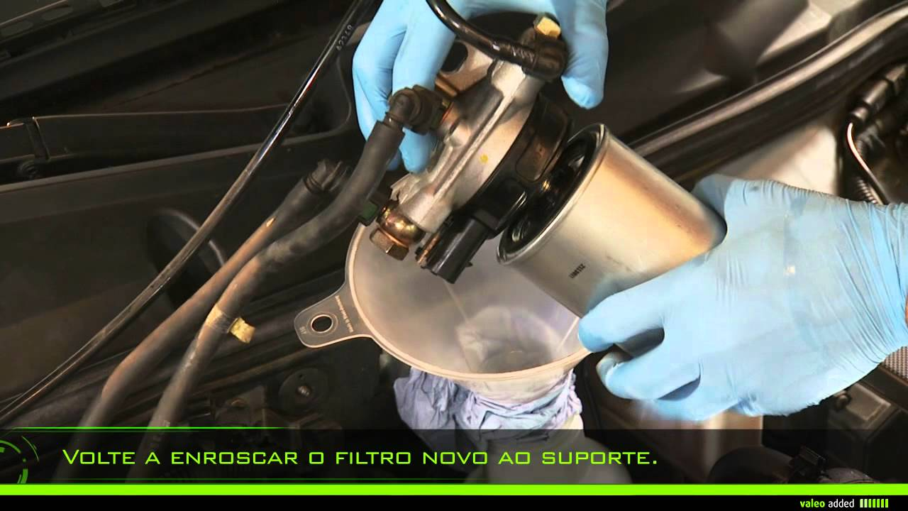 valeo fuel filter montagem de um filtro de combust vel a rosca youtube. Black Bedroom Furniture Sets. Home Design Ideas