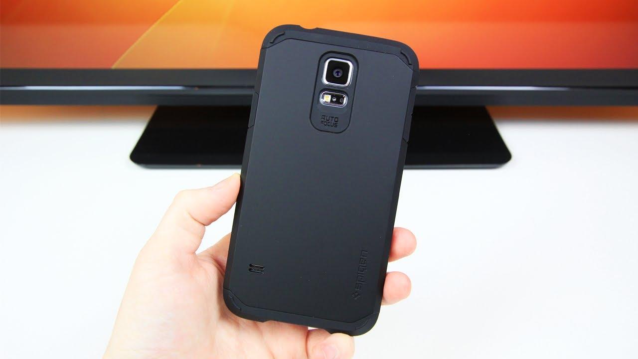 online store e9284 c591f Best Galaxy S5 Case? Spigen Tough Armor Review!