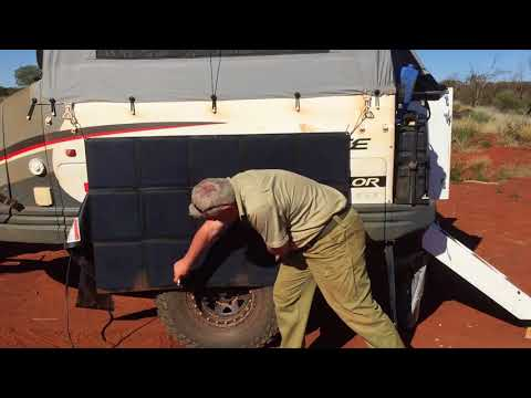 My Aussie Travel Guide demonstrate how to use REDARC SunPower solar blankets