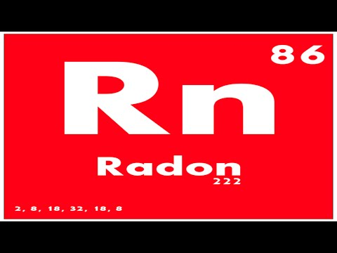 Study Guide 86 Radon Periodic Table Of Elements Youtube