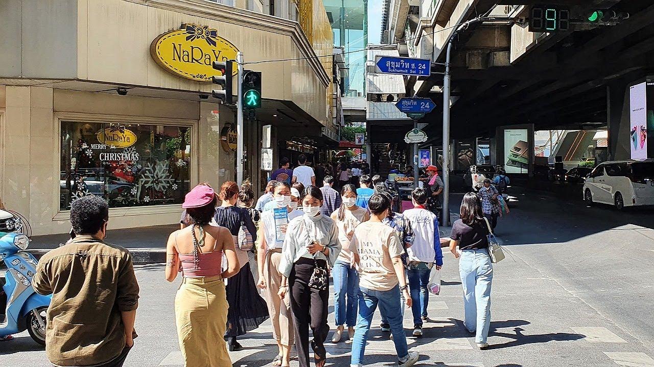 [4K] Thailand Travel - Walk from Phrom Phong to Thong Lo in Bangkok