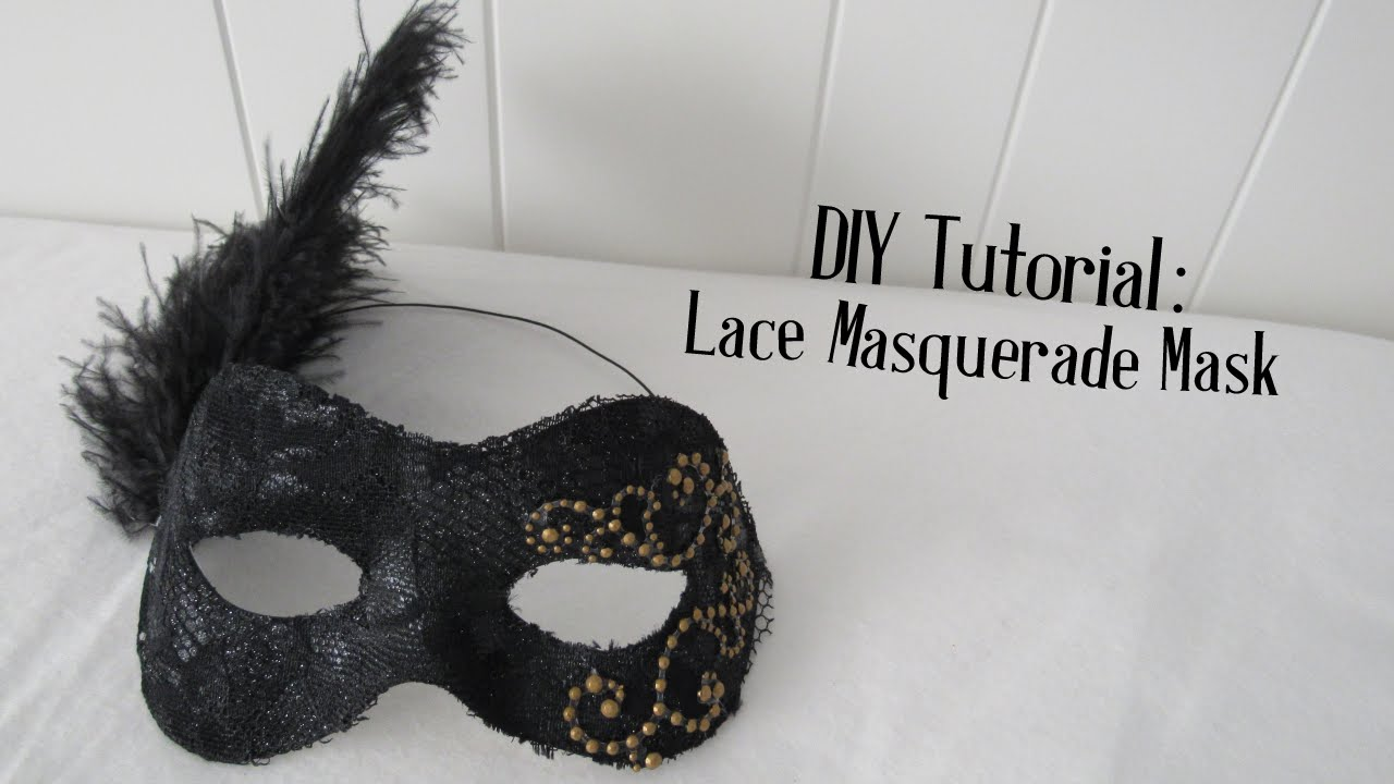 & Lace Masquerade Mask DIY Tutorial | Halloween DIY - YouTube
