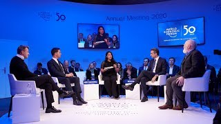 PM Mitsotakis at a panel discussion about Striking a Green New Deal at the World Economic Forum
