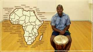 Five(ish) Minute Drum Lesson - African Drumming: Lesson 1: The Djembe(Farai introduces you to the djembe and talks about its historical importance to the Mali Empire. For more on music and dancing, visit ..., 2012-06-04T18:30:26.000Z)
