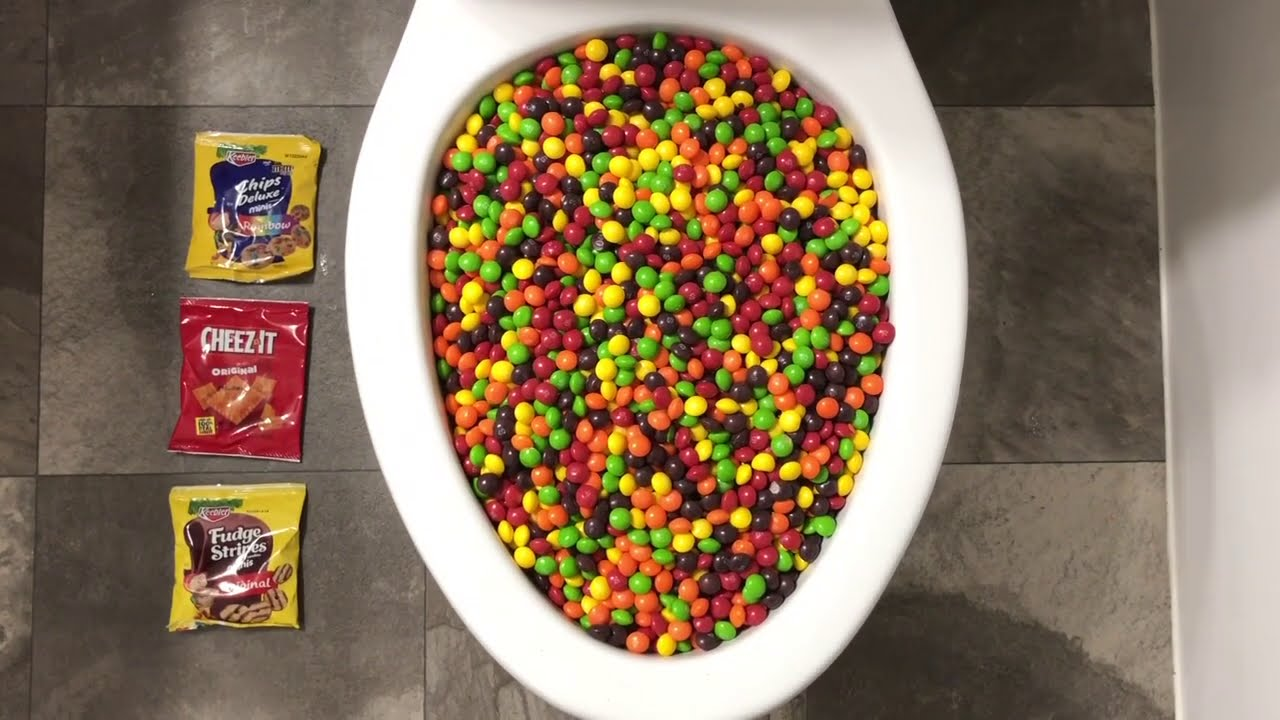 Will it Flush? - Skittles, Chips Deluxe, Cheez it, Fudge Stripes