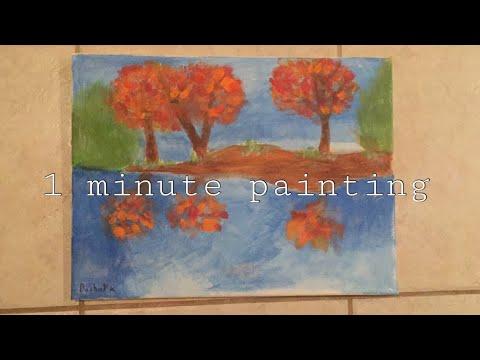 Acrylic landscape { painting, speedpaint }