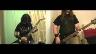 Kalmah - The Groan Of Wind (Guitars & Bass - Split Screen Cover)