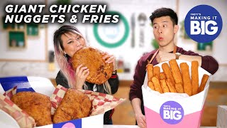 Download I Made Giant Chicken Nuggets And Fries For A Competitive Eater • Tasty Mp3 and Videos