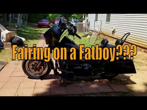 A Fairing on a Fatboy?? YES! | 2016 HD Fatboy Lo S | Hillbillydrummer