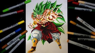 Drawing BROLY The Legendary Super Saiyan 3