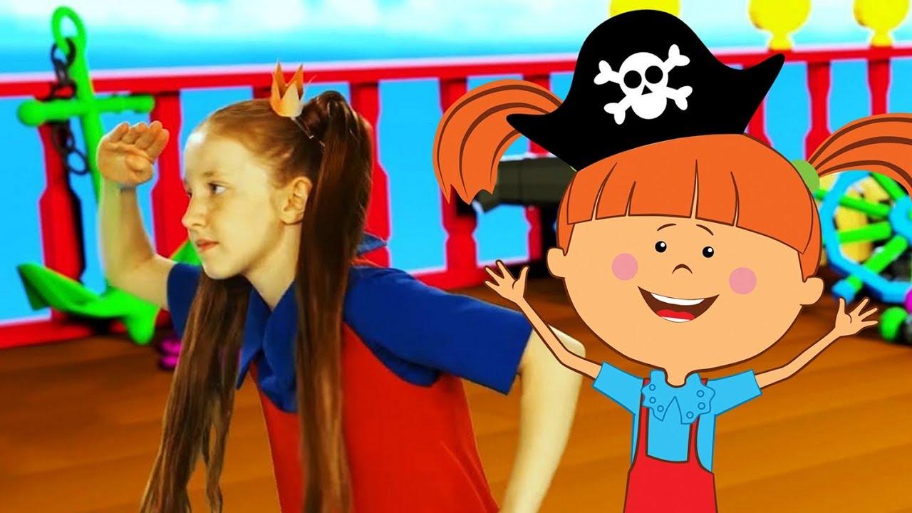 Зарядка с Царевной: Песенка Пиратов - теремок тв песенки для детей и малышей/развивающие мультики