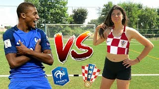 FRANCE VS CROATIA | WORLD CUP FOOTBALL CHALLENGES!!!