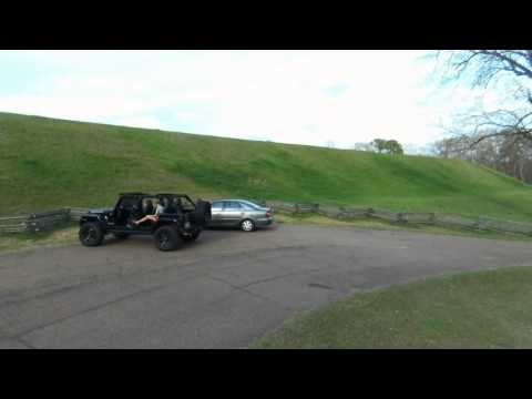 Parrot Bebop and Jeep Emerald Mound