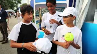 Autograph Hunters In Action At The Citi Open