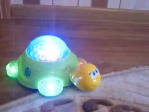 Черепашка игрушка, музыкальная, ночник, свет, батарейки