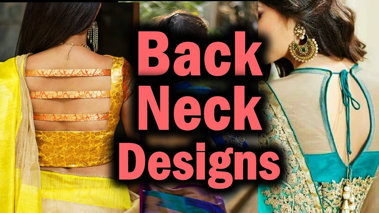 Blouse Back Neck Designs Catalogue Blouse Neck Designs Images Photos Back Neck Design For Kurti Youtube