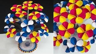 DIY-Guldasta made with plastic bottle for home Decor Guldasta Banane ka Tarika