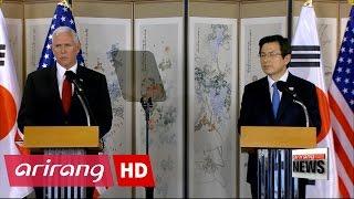 U.S. Vice President warns N. Korea not to test Trump's resolve