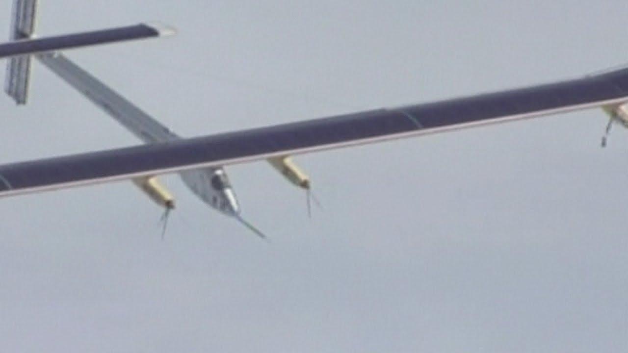 Solar powered plane soars over San Francisco ahead of cross-country flight