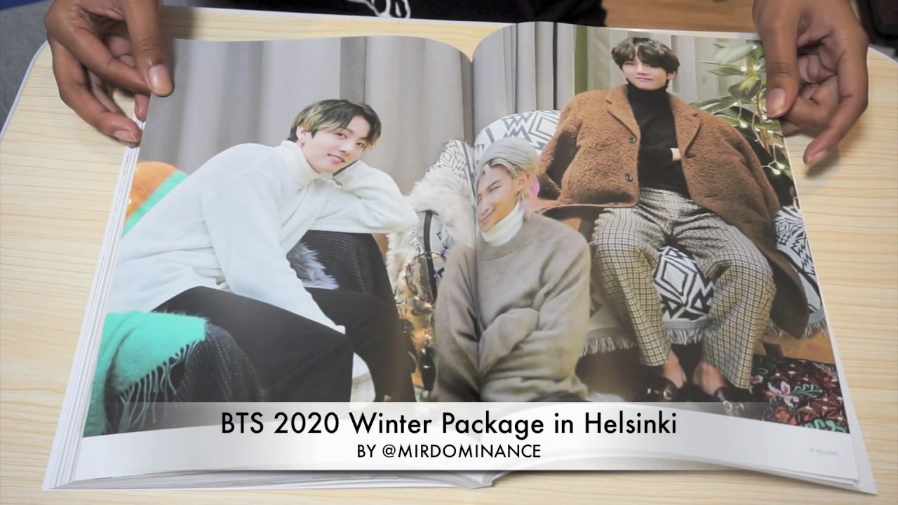 방탄소년단 BTS 2020 Winter Package in Helsinki Unboxing