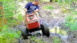 First Mud Run (Lifted Mudding Mower)