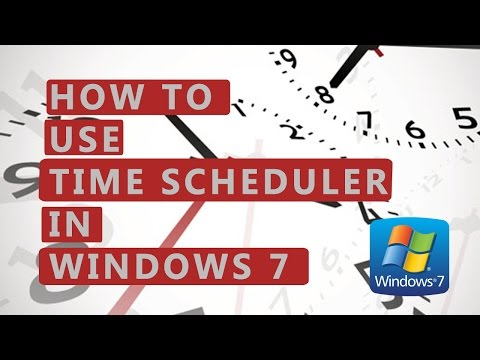 How to use Time Scheduler in Windows 7 - tutorial by TechyV